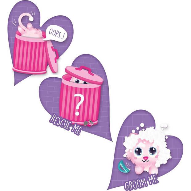SES Creative knuffel Trashcan Pets Suprise 1 meisjes roze 5-delig