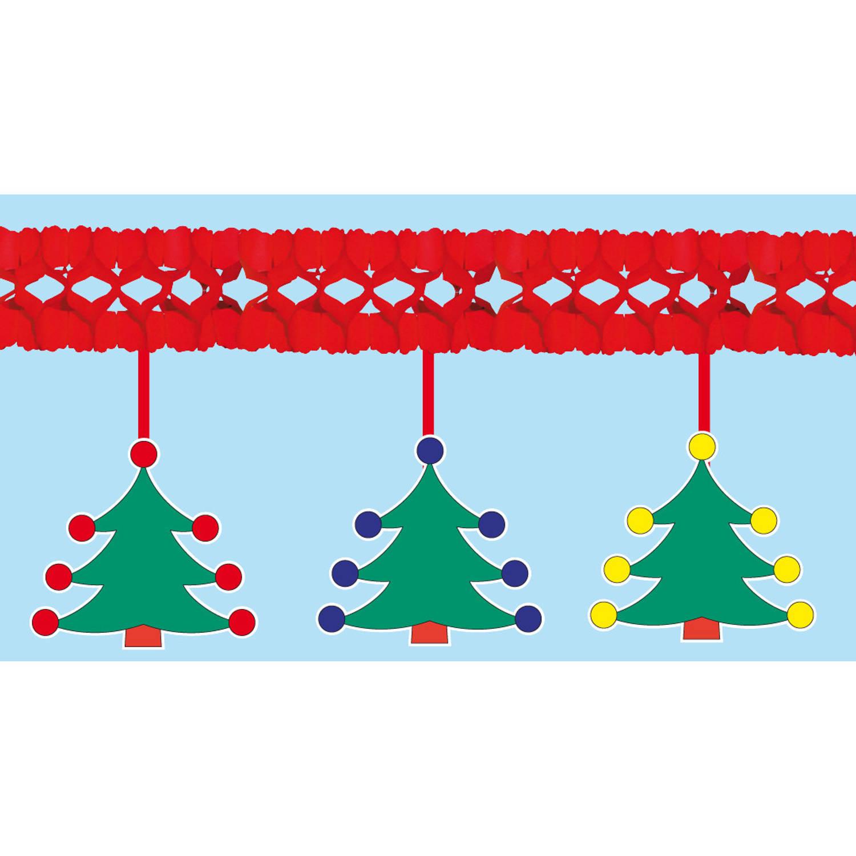 Kerstslinger Met Kerstbomen 4 Meter