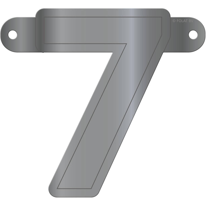Korting Folat Slingercijfer 7 12,5 X 11 Cm Karton Zilver
