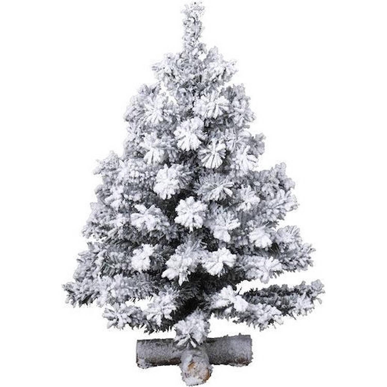 Besneeuwde kunst kerstboom op kruispoot 75 cm kunstbomen Kunst kerstbomen-kunstbomen
