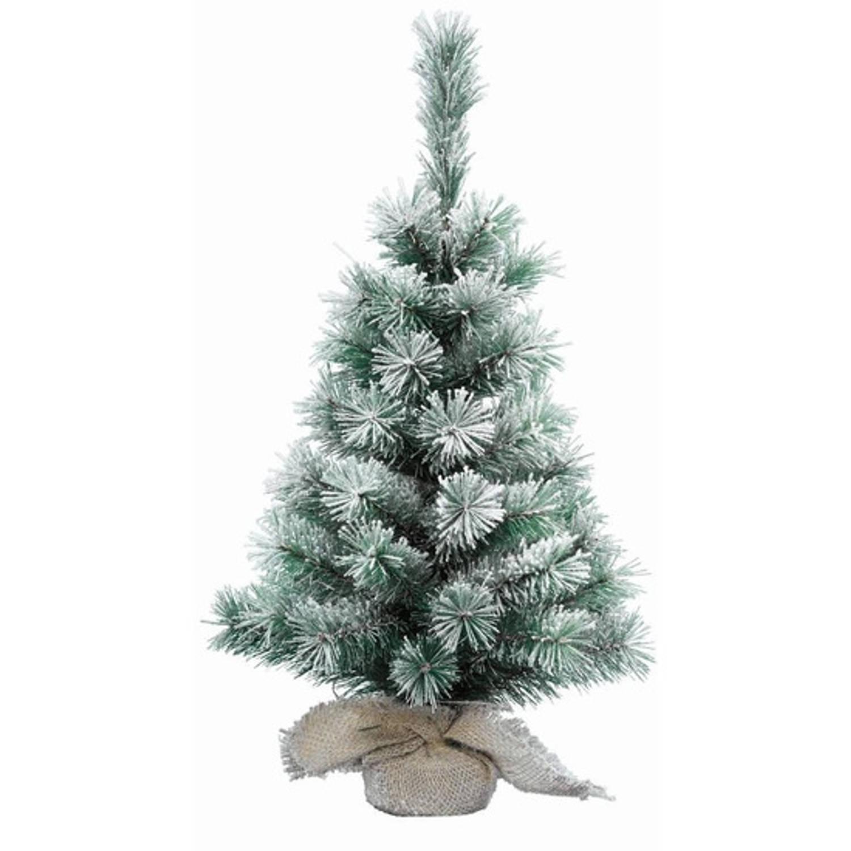 Mini kerstboom besneeuwd 75 cm Kleine kerstboompjes Besneeuwde kunst kerstbomen-kunstbomen
