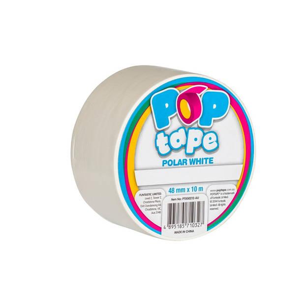 Pop Tape 48mm x 10m - Polar White