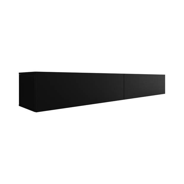 Meubella - TV-Meubel Flame - Mat Zwart - 200 cm