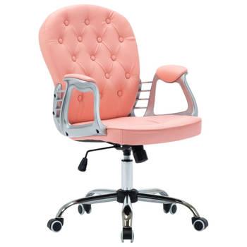 Bureaustoel kunstleer roze PRINCESS | Koop nu online en