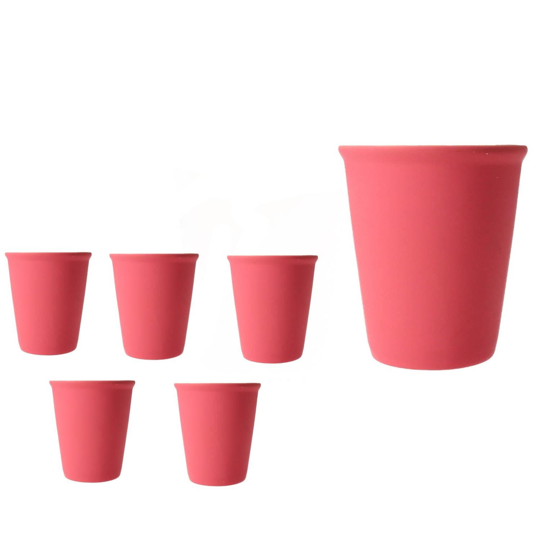 Pt Cappuccino Kop Set 6 Stuks Neon Roze