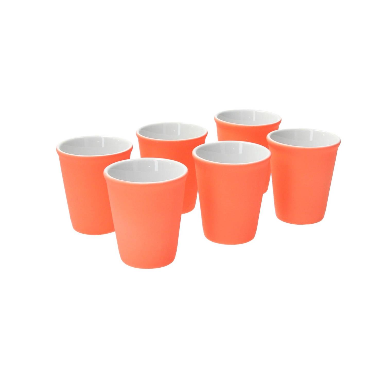 Pt Espresso Kopje Set 6 Stuks Neon Oranje