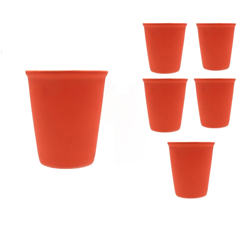 Pt Cappuccino Kop Set 6 Stuks Neon Oranje