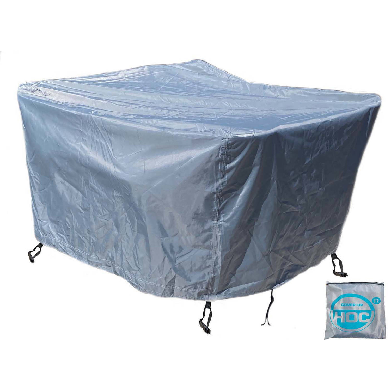 CUHOC Diamond hoes loungeset 242x162x100 cm loungeset beschermhoes waterdicht met Stormbanden, Trekk