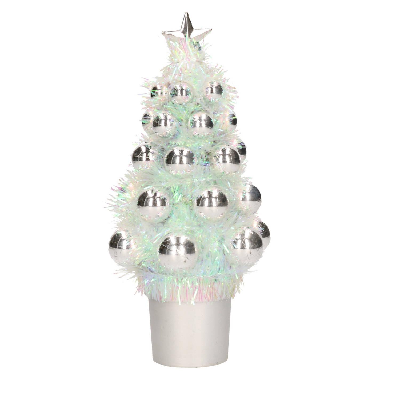 Complete Kunstkerstboom Met Kerstballen Zilver Kerstversiering Kerstbomen Kerstaccessoires