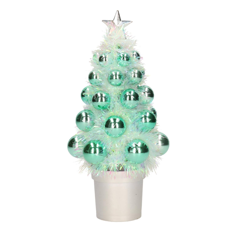 Complete Kunstkerstboom Met Kerstballen Groen Kerstversiering Kerstbomen Kerstaccessoires