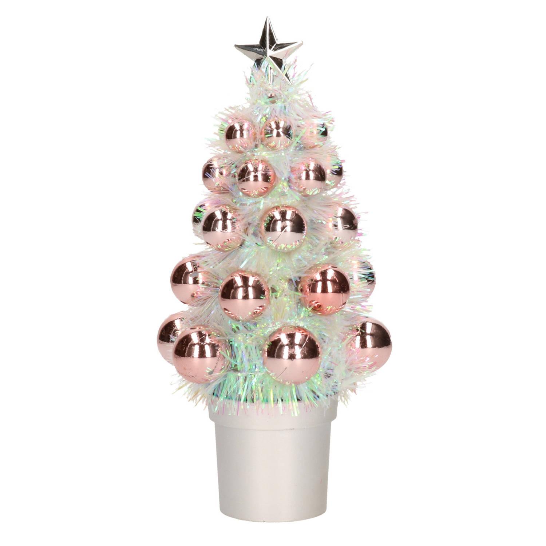 Complete Kunstkerstboom Met Kerstballen Zalmroze Kerstversiering Kerstbomen Kerstaccessoires