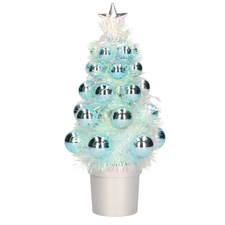 Complete Kunstkerstboom Met Kerstballen Blauw Kerstversiering Kerstbomen Kerstaccessoires