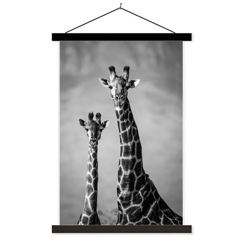 Schoolplaat Giraffenpaar - 60xh90 Cm