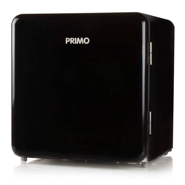 PRIMO PR110RKB Mini retrokoelkast zwart - 47L - A+
