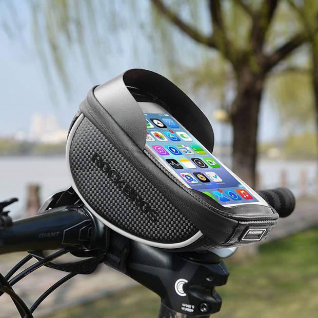 PRO Waterdichte fiets stuurtas met Telefoonhouder en opbergvak - Fiets