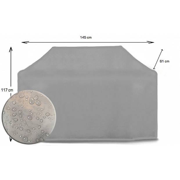 CUHOC Diamond topkwaliteit bbq hoes waterdicht-145x61x117 cm - met Stormbanden en Trekkoord