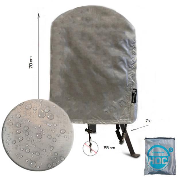 CUHOC Diamond bbq hoes rond -65x70 cm - Waterdicht met Stormbanden en Trekkoord