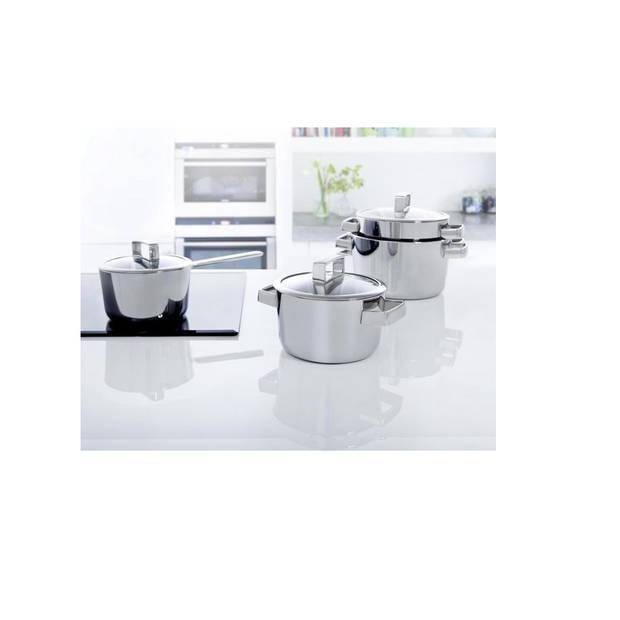 BK Conical Deluxe Kookpan - 16 cm - RVS - met glazen deksel