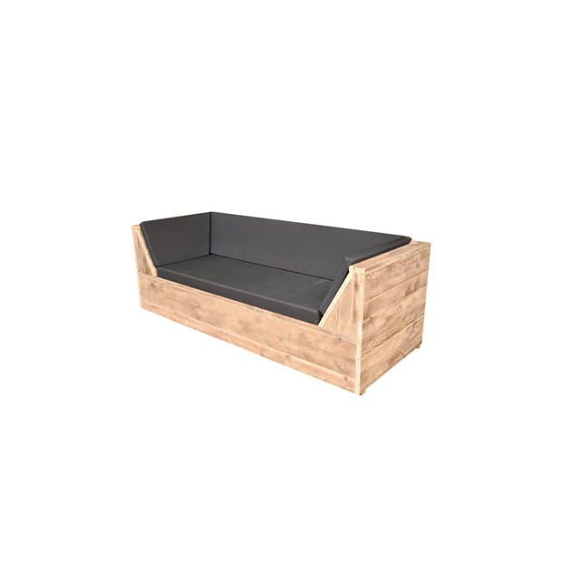 Wood4you - loungebank Phoenix Steigerhout 220Lx70Hx80D cm