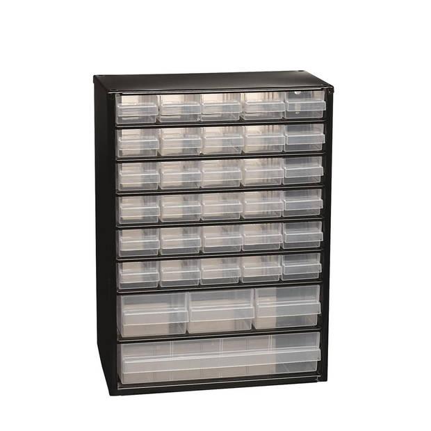 Raaco - Metalen ladekast - 34 lades - Incl. 10 tussenschotten