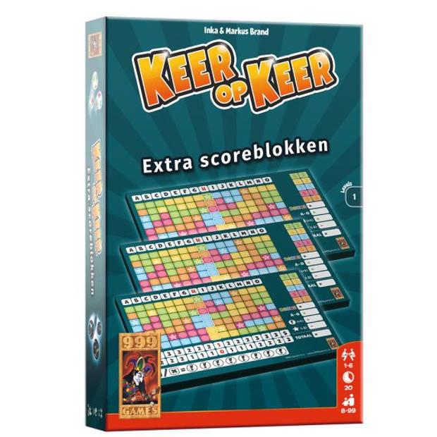 999 Games scoreblokken Keer op Keer level 1 papier 3 stuks