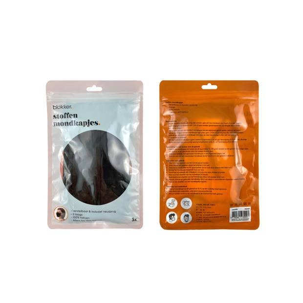 Stoffen mondkapjes - 2 laags - wasbaar