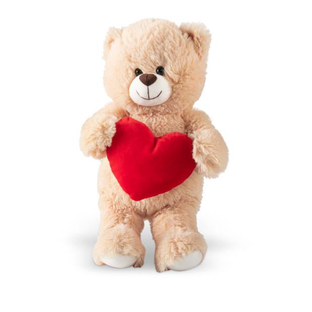 Knuffelbeer met hart 30cm