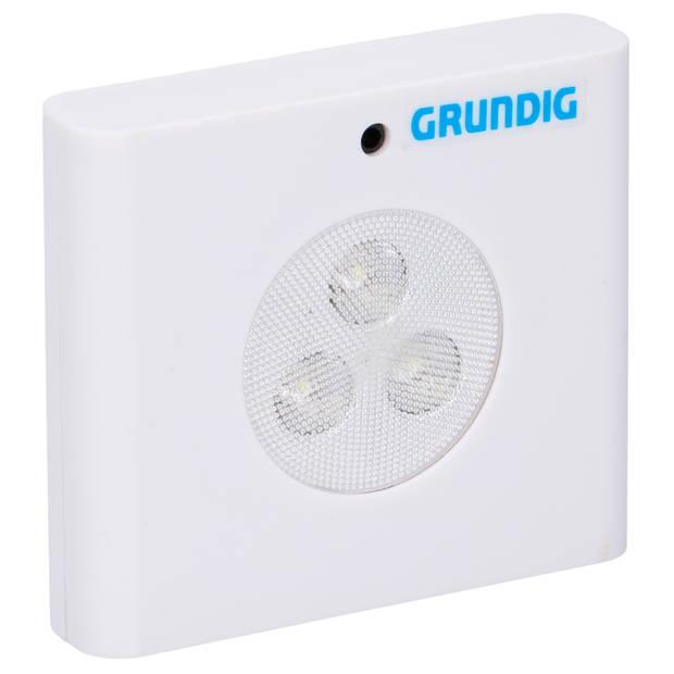 3x LED Sensor nachtlamp/verlichting op batterijen 7 cm - Slaapkamer/huiskamer/ganglamp/trapverlichting