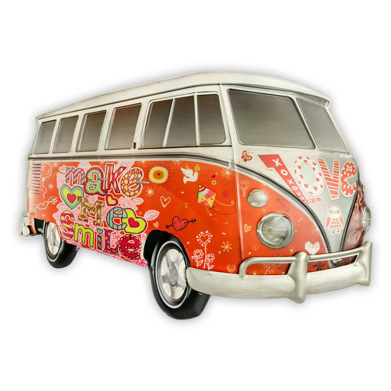 Haes Deco Retro Metalen Muurdecoratie Vintage Hippy Bus Western Deco Vintage Decoratie 64 5 X 47 X 5 Cm Wd922 Blokker