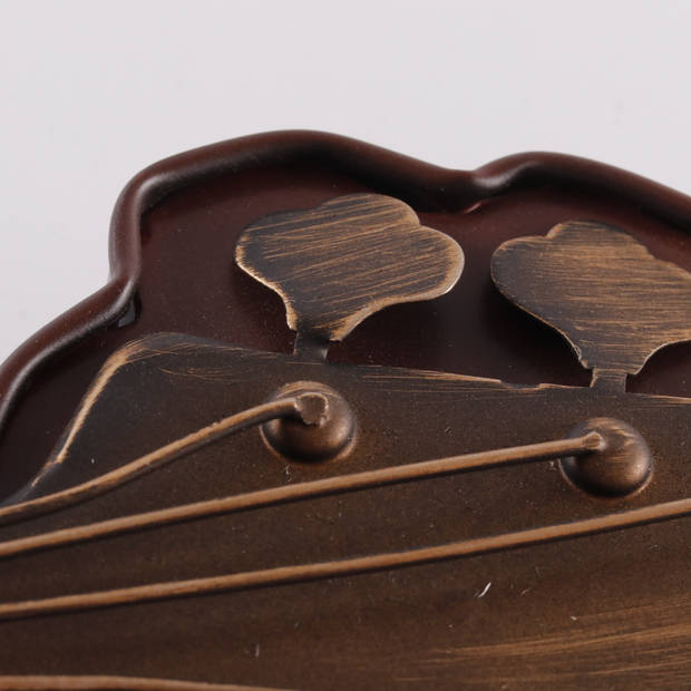 HAES deco - Retro Metalen Muurdecoratie - Bass Guitar - Western Deco Vintage-Decoratie - 22 x 71 x 4,5 cm - WD933