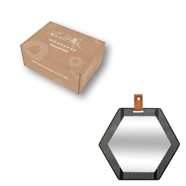 Orange85 Spiegel Zeshoek Metaal Industrieel
