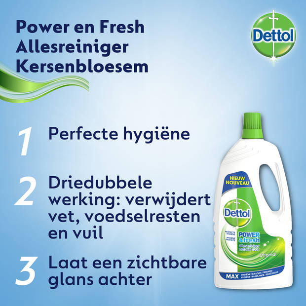 Dettol Allesreiniger Power & Fresh - Original - 1,5L x2