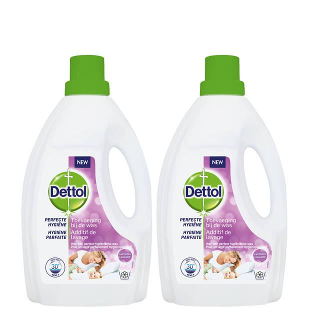 Dettol Was Toevoeging Hygiëne Lavendel – 1,5L x2