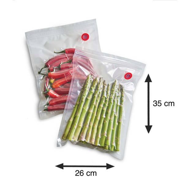 Solis 10 Zip Vacuumzakken 26 x 35 cm - Herbruikbaar