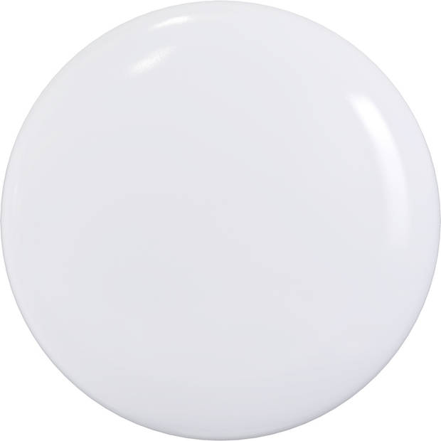 LED Plafondlamp met Bewegingssensor - Aigi - Opbouw Rond 18W - Natuurlijk Wit 4000K - 360° - Mat Wit Aluminium