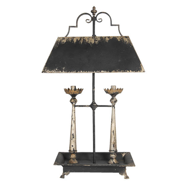 Clayre & Eef Tafellamp 5LMP301 54*32*98 cm - Bruin Ijzer Bureaulamp