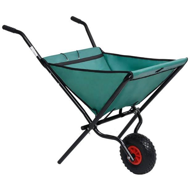 vidaXL Kruiwagen inklapbaar 60 L groen