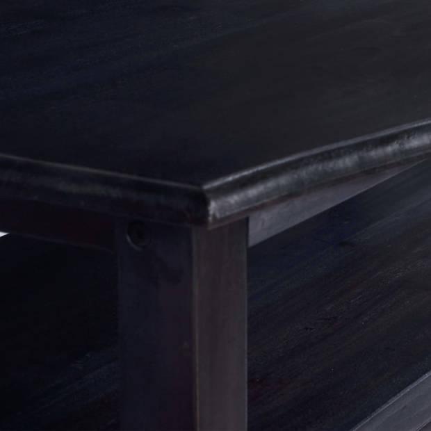 vidaXL Salontafel 90x50x40 cm massief mahoniehout lichtkoffiekleurig