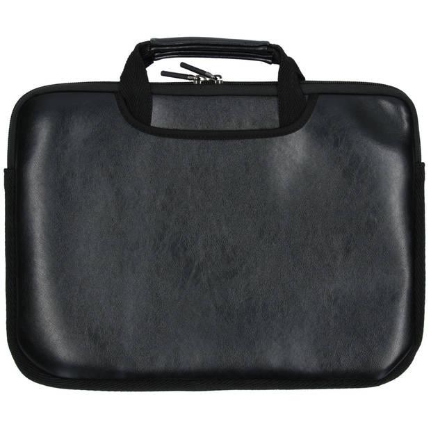 iMoshion Lederen look laptoptas met handvatten 15 inch - Zwart