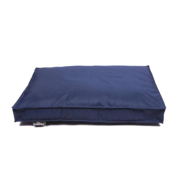 Lex & Max Hondenkussen All Weather Donkerblauw - Boxbed - 90 x 65cm