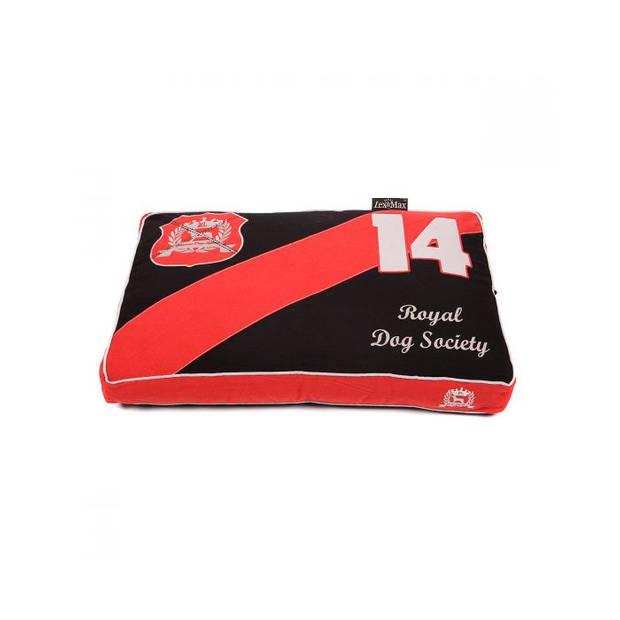 Lex & Max Hondenkussen Classic Zwart - Boxbed - 75 x 50cm - Kussenhoes