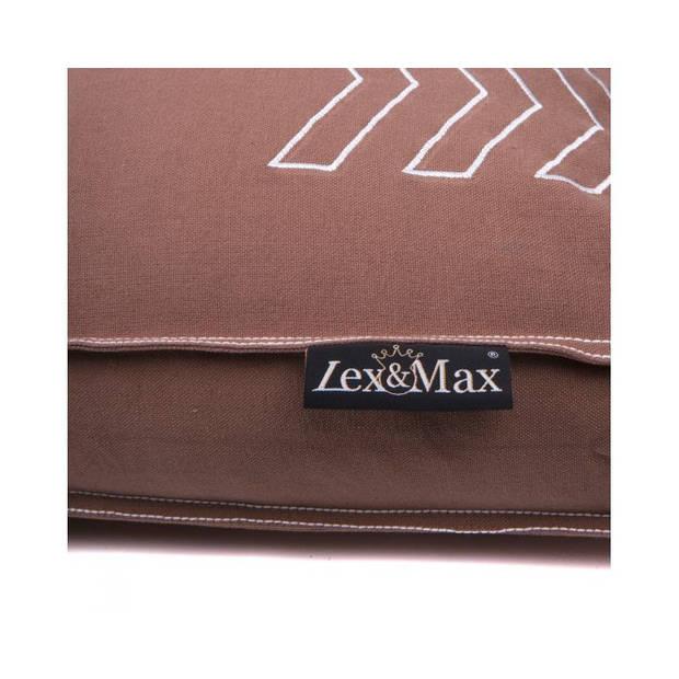 Lex & Max Hondenkussen Dogstar Taupe - Boxbed - 75 x 50cm