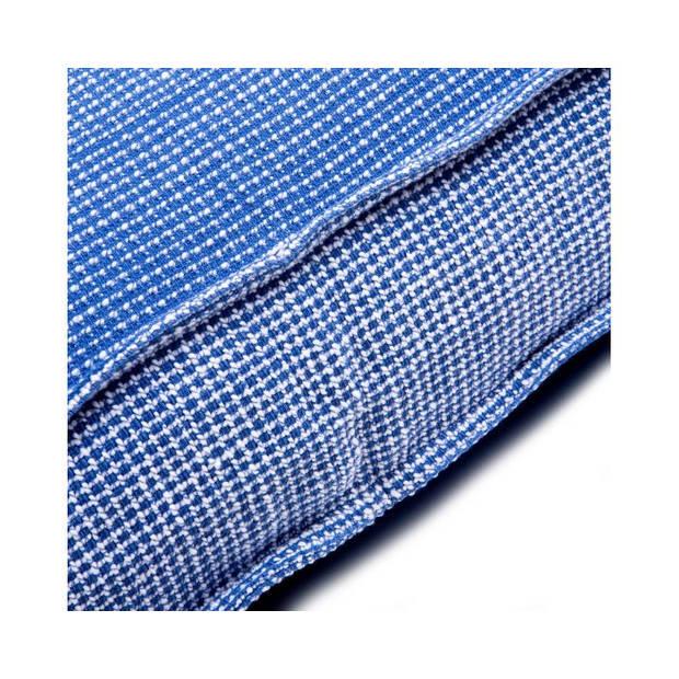 Lex & Max Hondenkussen London Holland Blauw - Boxbed - 90 x 65cm - Kussenhoes