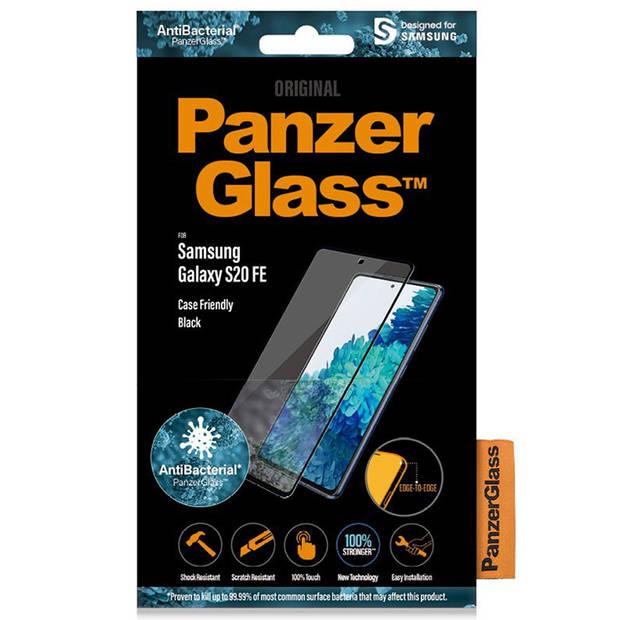PanzerGlass Anti-Bacterial Case Friendly Screenprotector voor de Samsung Galaxy S20 FE