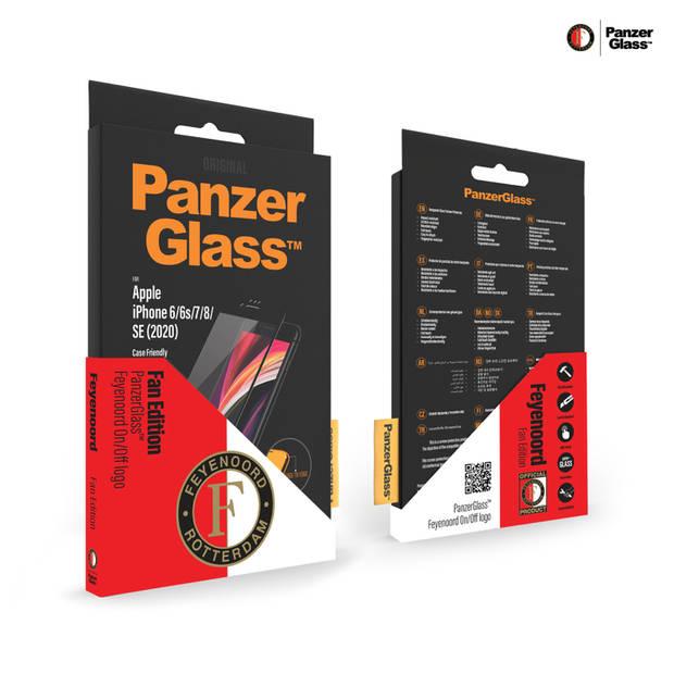 PanzerGlass Feyenoord Case Friendly Screenprotector voor iPhone SE (2020) / 8 / 7 / 6(s) - Zwart