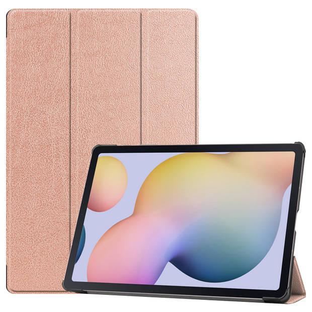 iMoshion Trifold Bookcase Samsung Galaxy Tab S7 Plus tablethoes - Rosé Goud
