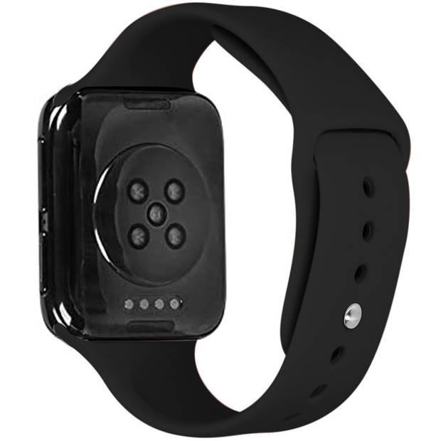 iMoshion Siliconen Smartwatch Bandje voor de Oppo Watch 46 mm - Zwart