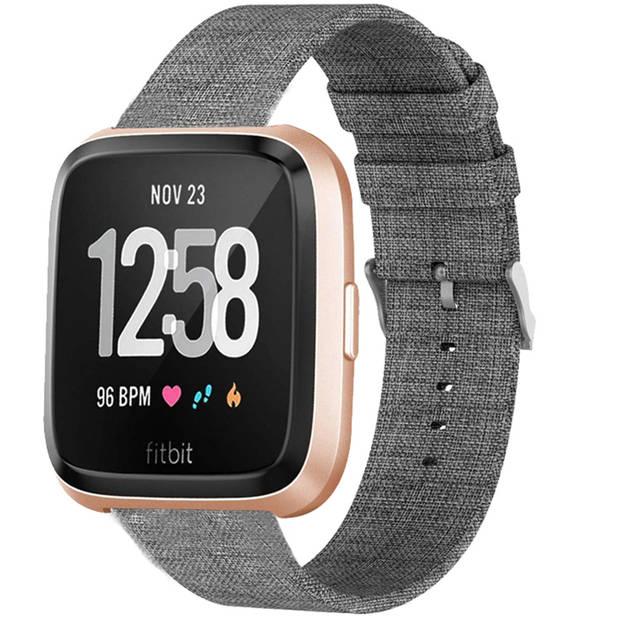 iMoshion Nylon Smartwatch Bandje voor de Fitbit Versa Lite,Fitbit Versa 2 - Grijs