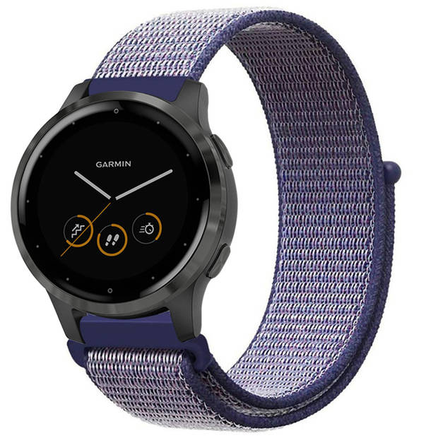 iMoshion Nylon Smartwatch Bandje voor de Garmin Vivoactive 4L - Blauw