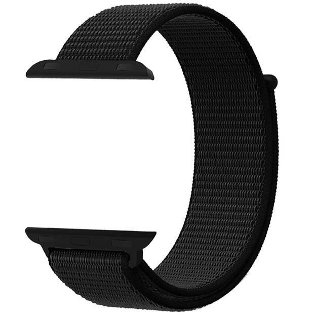 iMoshion Nylon Smartwatch Bandje voor de Apple Watch Series 1 t/m 6 / SE - 42/44 mm - Zwart